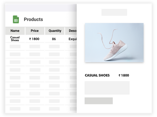 Create an online store with just an excel sheet